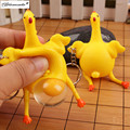 Yamala 1Pcs Vent Chicken Egg ANTISTRESS keychain Laying Hens Crowded Rubber Lizunov FUN Jokes Tricks MINI lEPIN Brinquedos
