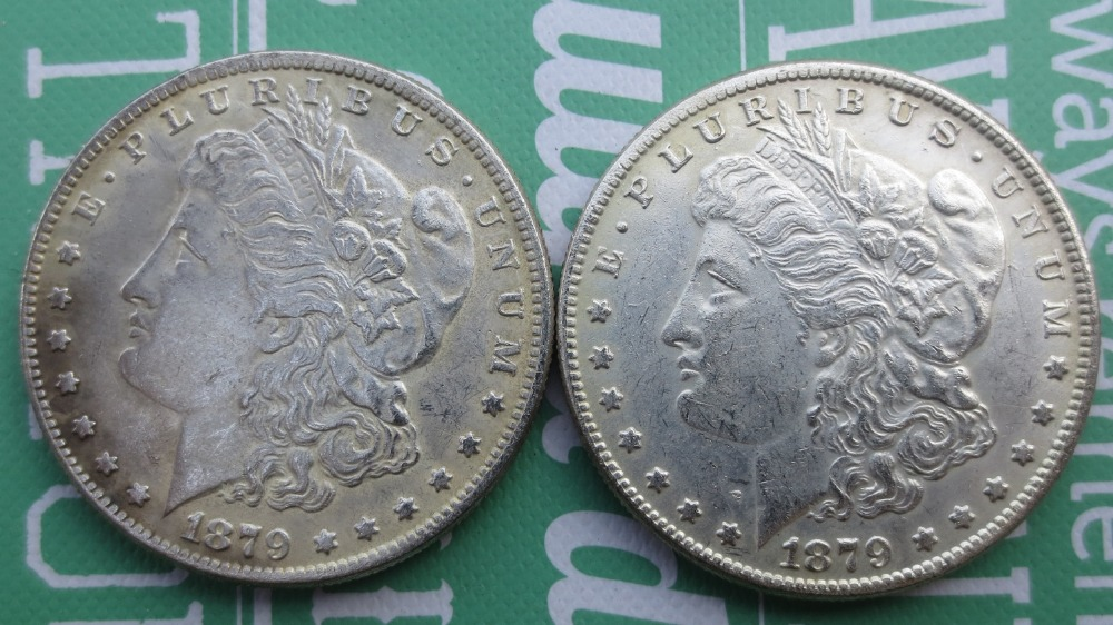 U.S.FREE SHIPPING High quality 1879 Morgan dollar UNC Two Face Copy Coins