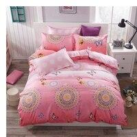 Mode stijl roze cirkel koningin/full/twin size beddengoed set beddengoed set koop beddengoed dekbedovertrek bed sheet kussenslopen