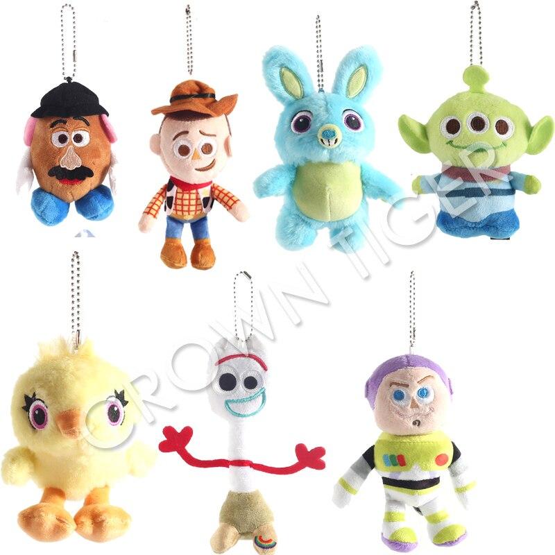 Toy Story 4 Plush Figure Toy Forky Buzz Aliens Bunny Soft Stuffed Doll Kids Gift