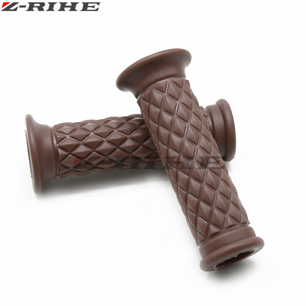 Motorcycle 7 8 quot Vintage Rubber Handlebar Hand Grip for Kawasaki NINJA 250R Z125 NINJA 300r ZX6R 636 ZX10R Z750R z800 z1000 mt 09 in Grips from Automobiles amp Motorcycles