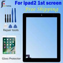 iPad 2 Screen Touch A1395  A1396 A1397 Touch Digitizer Sensor Glass Panel FrameOuter Touch Screen Front Glass Panel Replacement new for ipad2 a1395 a1396 a1397 replacement touch screen digitizer glass without home button white black