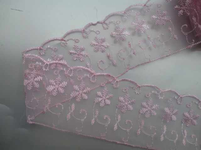 1 Pcs 15 Yard Pink Bordir Renda Bersih Kain Trim Pita Pernikahan Kerajinan untuk DIY Kerajinan Rumah Pesta Dekorasi