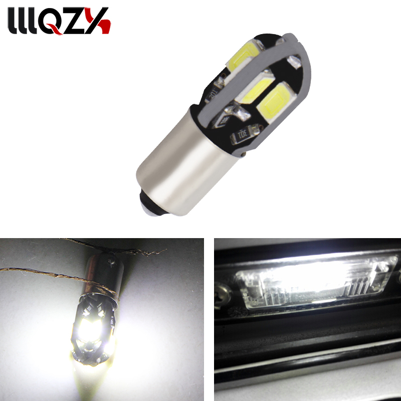 1PCS BA9S led canbus W5W BA9S bulb 194 168 5730 ba9s 8SMD t4w Canbus NO ERROR 12V Car Auto Bulbs Indicator Light Parking Lamp sencart ba9s 3w 25lm 490nm 5730 smd led blue light car motorcycle lamp dc 12 16v 2pcs