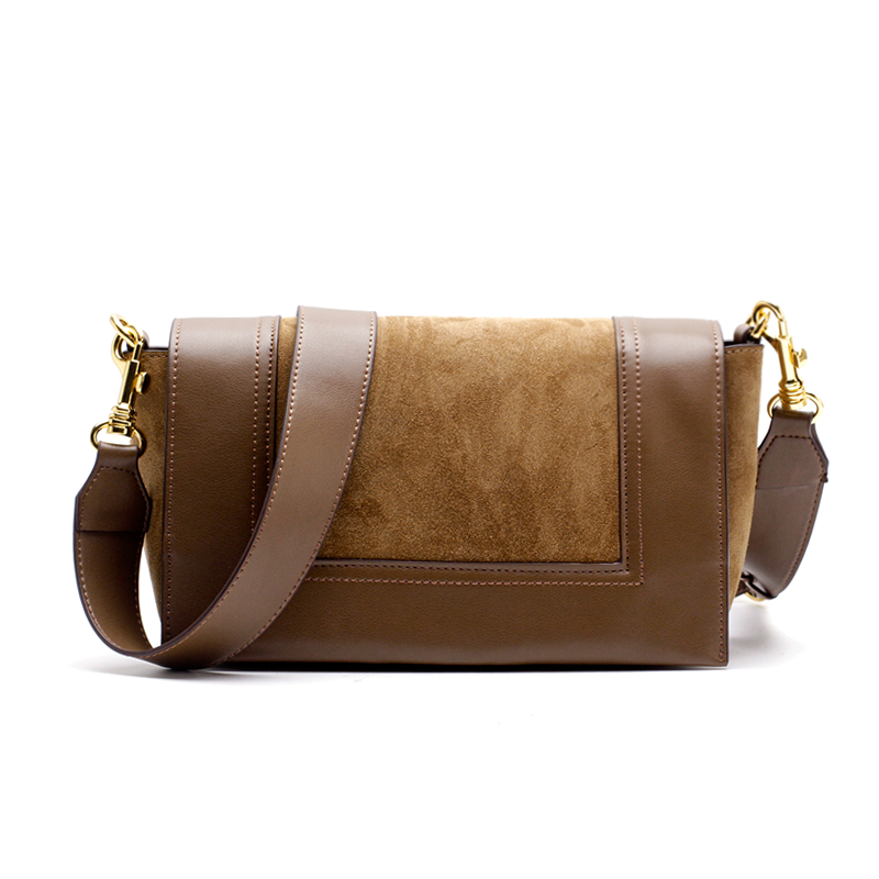 Suede Shoulder Bags For Women 2018 Luxury Handbags Women Bags Designer Genuine Leather Small Flap Cover Panelled Crossbody Bags original designer brand vintage women s genuine cow leather handbags color panelled small flap totes crossbody messenger bags