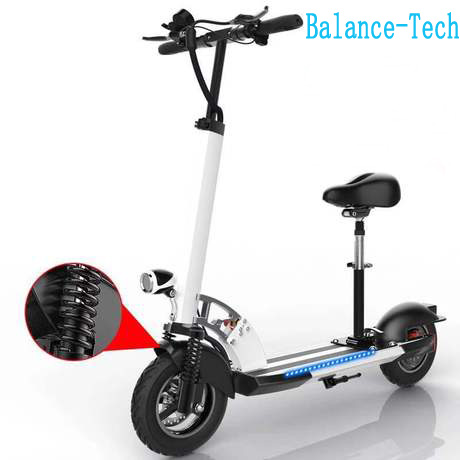 Foldable Electric Scooter 48V Electric Skateboard Handle Adjustable with LED E scooter 45km h Shock Absorbtion