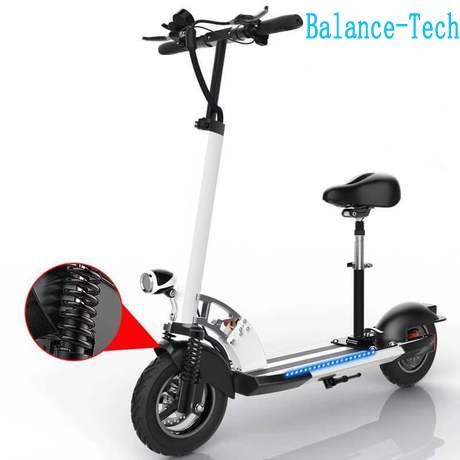 Scooter électrique pliable 48 V poignée de planche à roulettes électrique réglable avec LED e-scooter 45 km/h scooter d'absorption des chocs pour adulte
