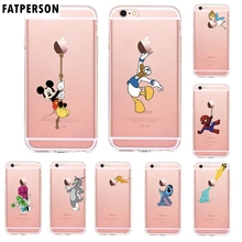 Lovely Mickey Donald Duck Stitch Clear Phone cases For iphone 5s SE 6 6s 7 8 Plus Cartoon Cat Mouse Case for XS MAX XR X