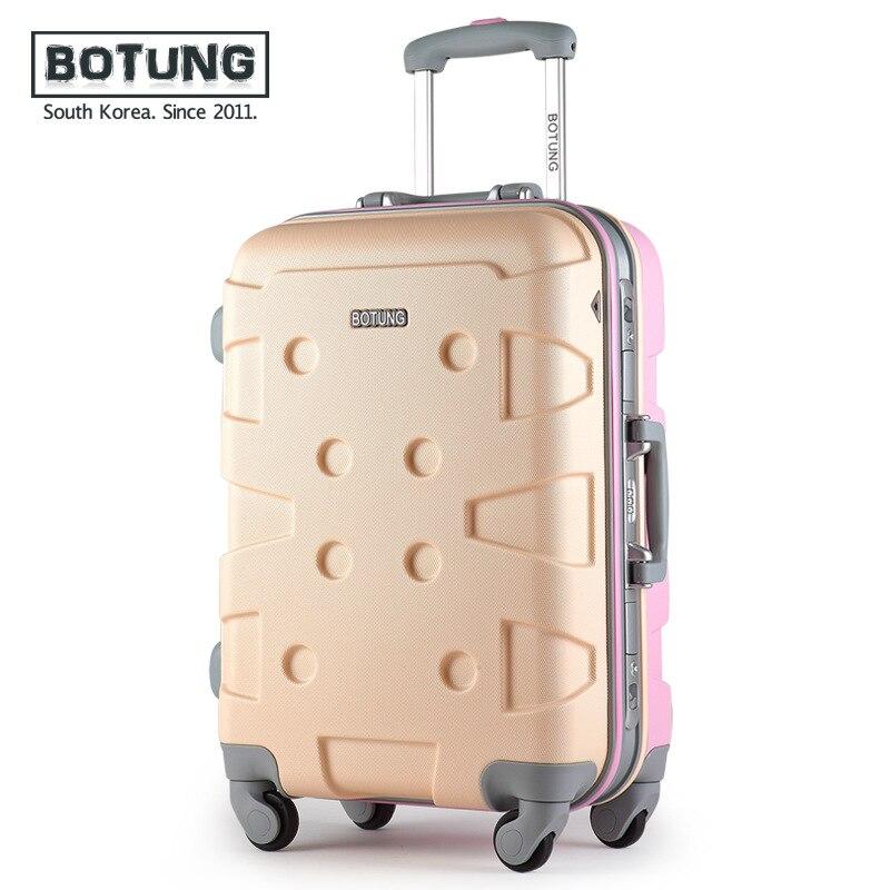 Алюминий frame Stick коробки универсальный колесный багаж Мужской 20 дюйма 24 дюймов Футляр женский туристический Сейф магистрали jj170074