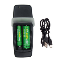 2 Slots USB smart battery charger for 1.6V AA AAA NI-ZN Rechargeable tip intelligent with LED display