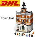 2017 New 15003 2859Pcs Creators Town Hall Model Building Kits Figure Blocks Bricks Compatible Toys For Children Gift With 10224