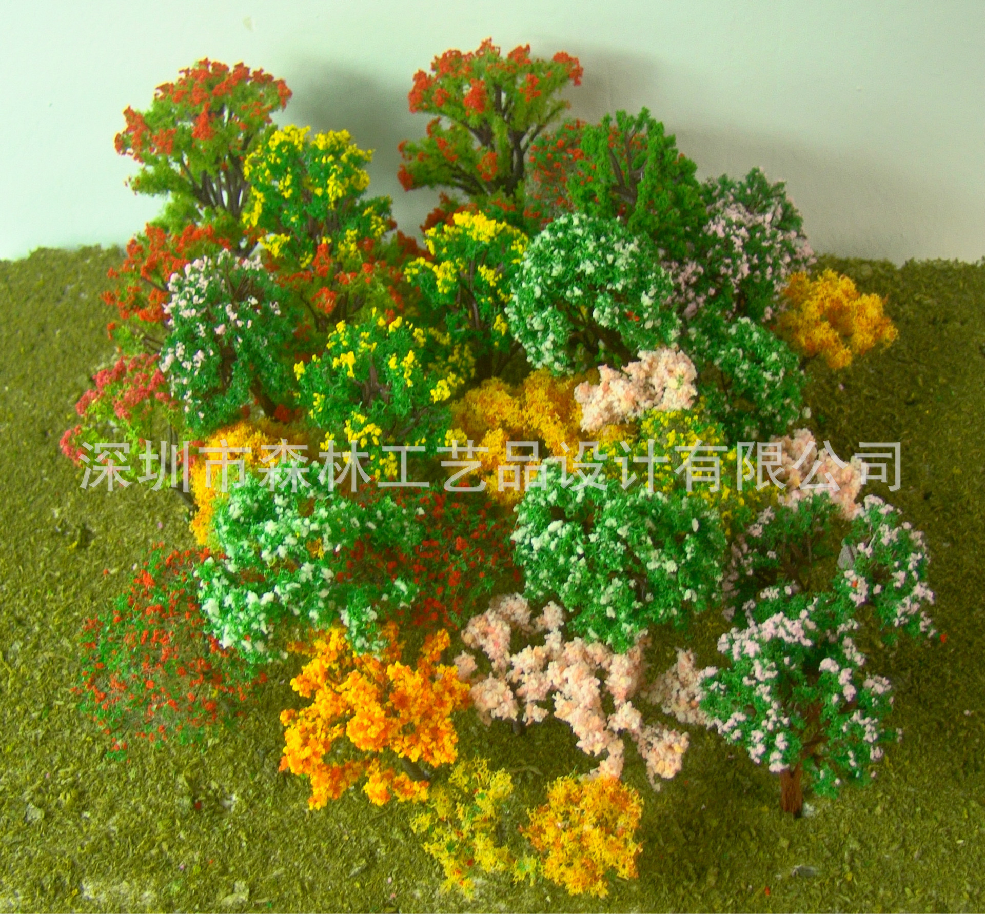 30PCS/LOT 2018 colorful HO N OO Architectural scale model ABS plastic Green Trees 3-10CM model train landscape tree layout 41xdzs 37 urban architectural landscape print art
