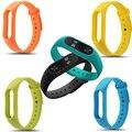 EM ESTOQUE! para xiaomi mi banda 2 xiao mi band2 10 cores substituível banda silicone esporte wrist band strap pulseira
