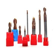 цена на 1PC 1mm 1.5mm 2mm 2.5mm 4mm 5mm 6mm  2Flute  Ball Nose Endmill Cutter End Mill  CNC Milling Cutter Tool