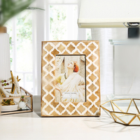 Creative Wedding Decor Quality Photo Frame Home Art Crafts Picture Frames Desktop Study OX Bone Frames For Pictures marco foto