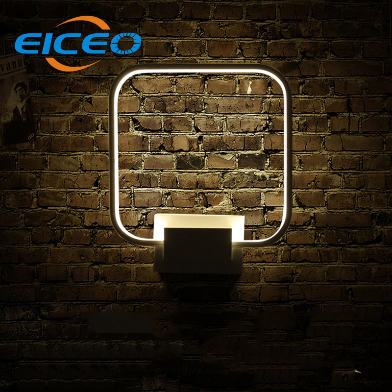 (EICEO) New Indoor LED Wall Lamp Bedside Lamps Bedroom Living Room Creative Round Square Balcony Aisle Lighting Sconce AC220V wall light 12w led wall lamp bedroom bedside living room hallway stairwell balcony aisle balcony lighting ac85 265v hz64