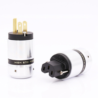 Hi End Gold Plated US Power Cable Plug IEC Connector Female male Plug HIFI DIY Mains Power Cable