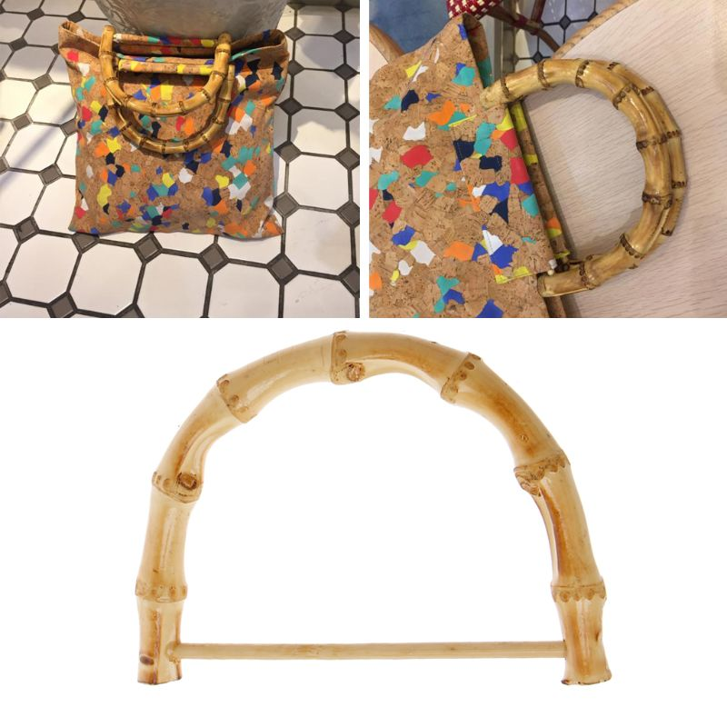 New 1 Pc Bamboo Bag Handle Replacement For DIY Bags Purse Making Handbag Shopping Tote Bag Accessories High Quality