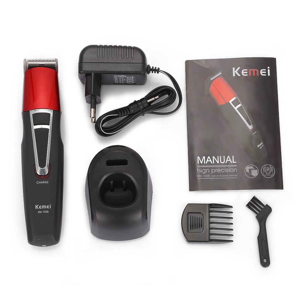 Kemei KM-1008 Cordless Rechargeable Hair Clipper Beard Trimmer Portable And Adjustable Long Working Time Styling Haircut Tool 4
