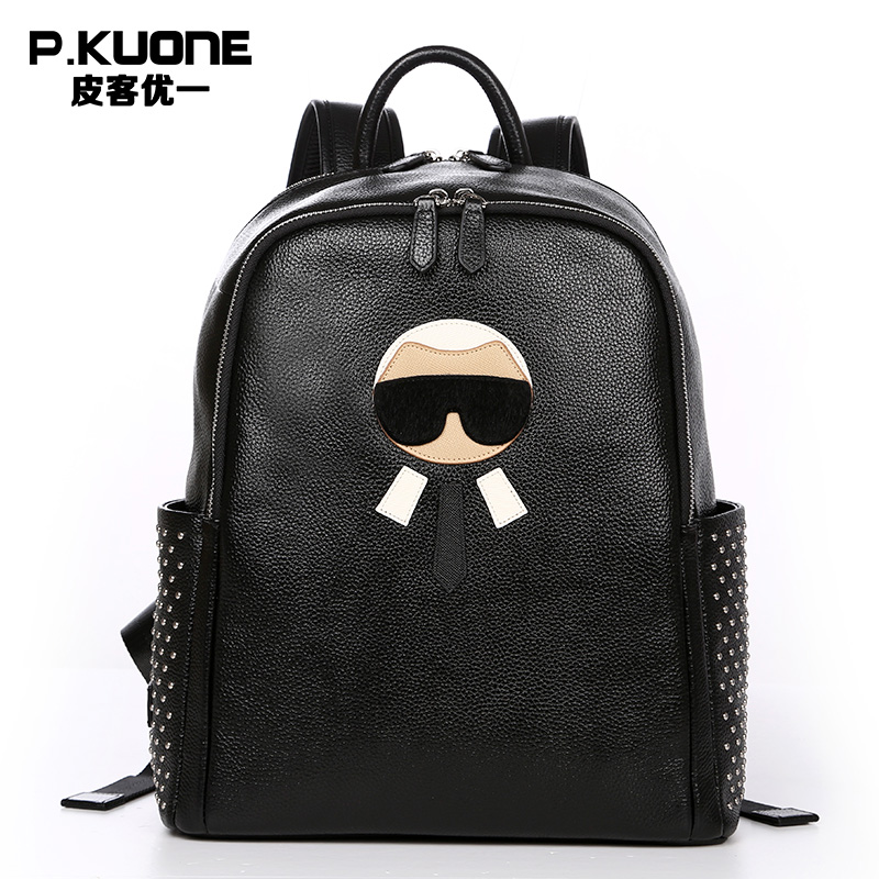 Fashion Designer Genuine Leather Women Backpacks Fashion High Quality Women Luxury  Brand Backpack Cowhide Travel Backpacks-in Backpacks from Luggage   Bags ... ee0c26b533856