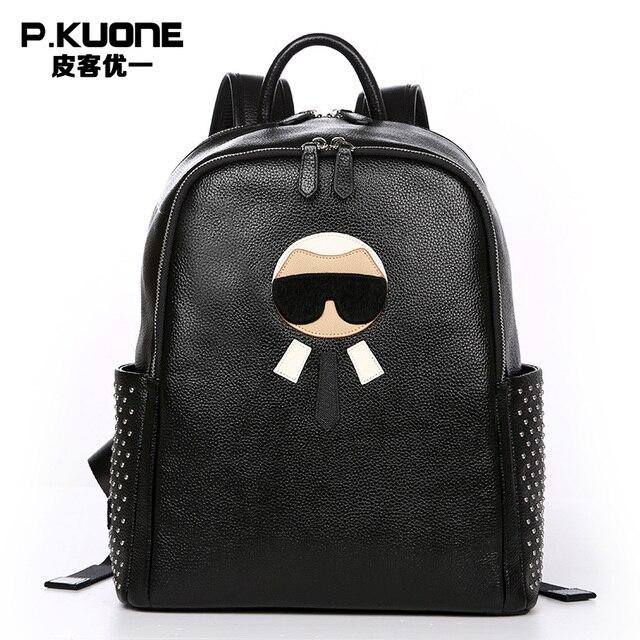 a607c23c0073 Fashion Designer Genuine Leather Women Backpacks Fashion High Quality Women  Luxury Brand Backpack Cowhide Travel Backpacks