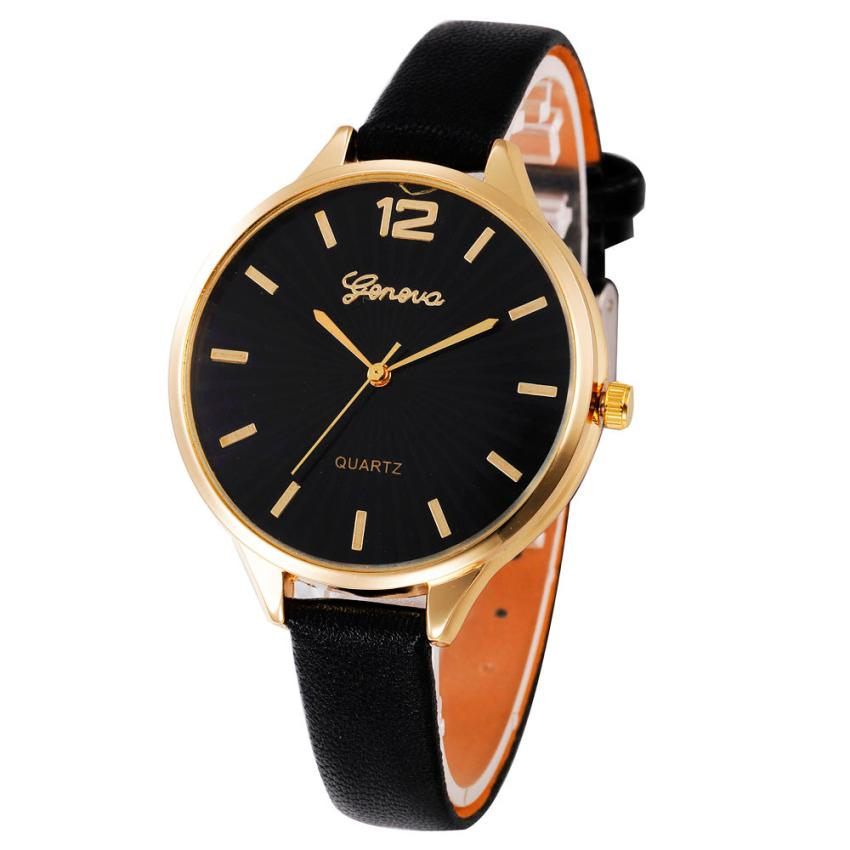 2017 Newly Designed Women Casual Checkers Faux Leather Quartz Analog Wrist Watch 327