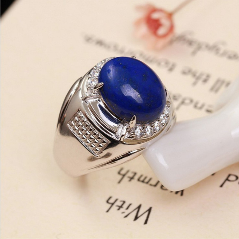 Natural Gemstone Ring Hand Jewelry For Men Hot Sale MEDBOO
