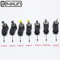 10 adet Erkek DC Güç fiş konnektörü Açı 90 derece L Şekilli plastik 5.5*2.5 5.5*2.1 4.8*1.7 4.0*1.7 3.5*1.35 3.5*1.1 2.5*0.7mm