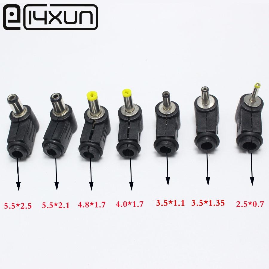 2.5mm x 5.5mm Plug Angle 90 degree L Shaped DC Power Connectors plastic 10pcs