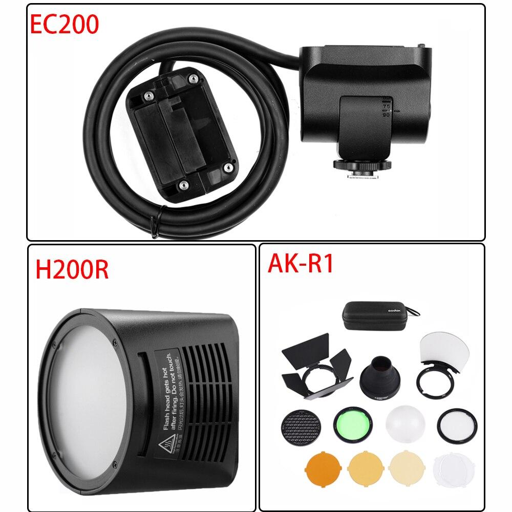 Godox AD200 Flash Accessory EC-200 WITSTRO H200R Round Flash Head Extension Head AK-R1 Color Temperature Reflector Godox
