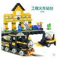 Cogo 4103 tren de coches de plataforma elevadora 443 unids Building Block Sets Educational DIY juguetes de los ladrillos