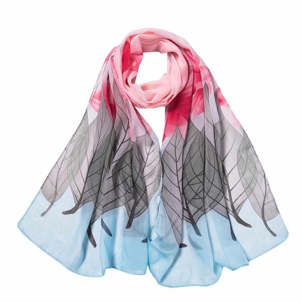 160x50 см мягкий шифоновый шарф для женщин, Осенний пляжный стиль, цветочный принт, длинные шарфы из Индии, Женская Повседневная накидка, шали, банданы # YL