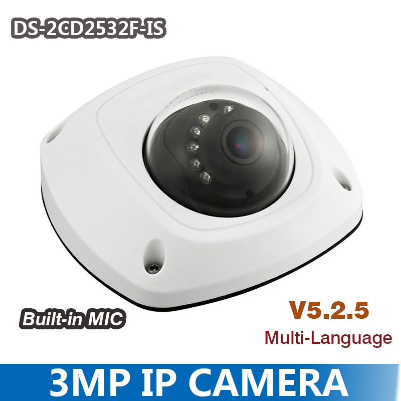 DS 2CD2532F I S 3MP IP Camera Mini Dome font b CCTV b font 4mm or