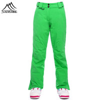 SAENSHING professional ski pant for women outdoor warm ski trousers Waterproof Windproof breathable snowboarding trousers