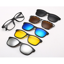 5lenses Magnet Sunglasses 5 in 1 Clip Mirrored Clip on Spect