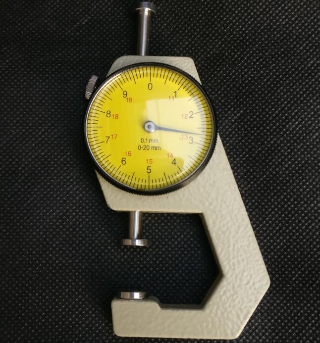 0-20mm/0.1mmdial kalınlık ölçer deri kağıt metre test cihazı içi boş boru veya yuvarlak tüp kumpas göstergesi ölçme araçları