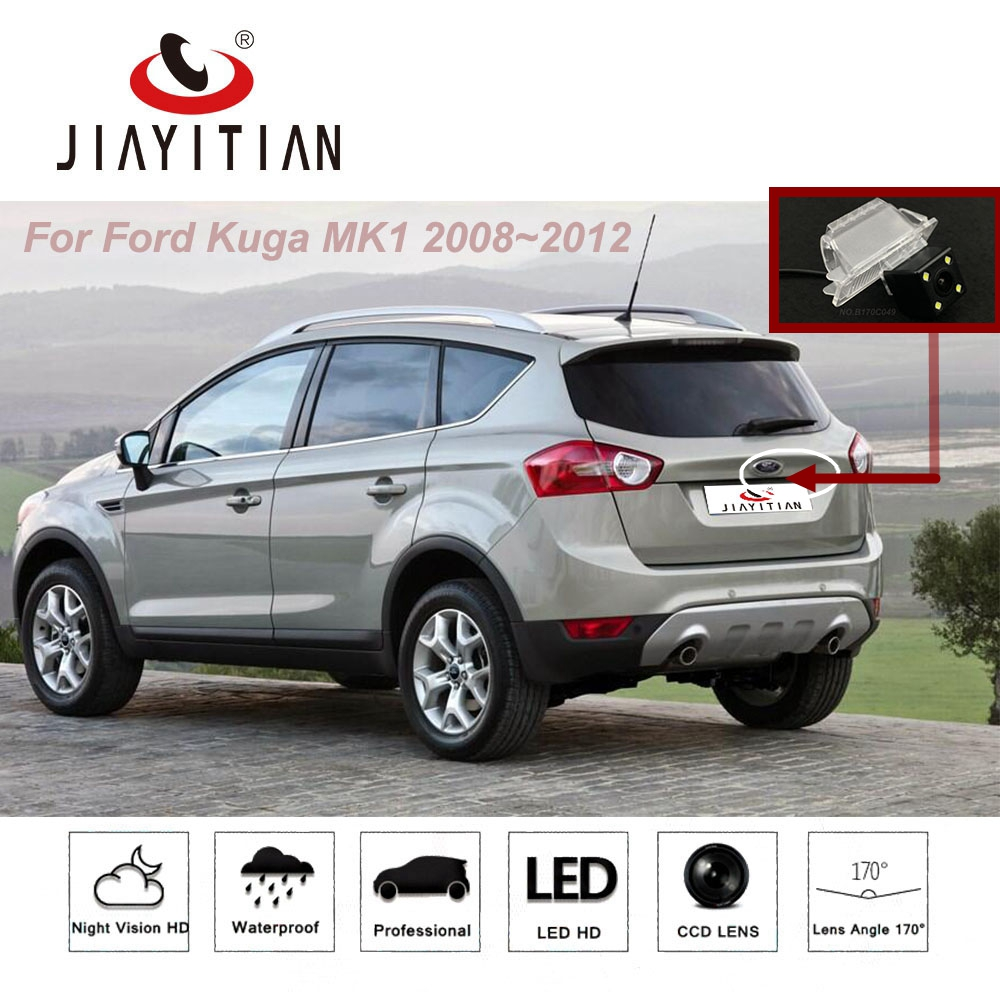 Jiayitian for ford kuga mk1 2008 2012 ccd rear view camera reversing parking camera parking assistance license plate lamp
