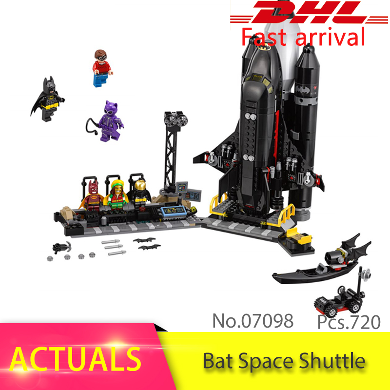 70923 Batman Super hero Series 720pcs The Bat Space Shuttle Model Building Block Bricks DIY Toys For Children Lepin Gift 07098