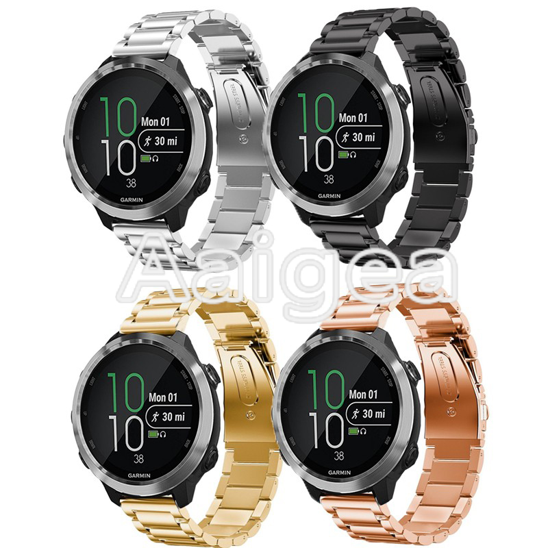 Premium Stainless Steel Watchband Quick Release for Garmin Forerunner 645 Smart Watch Replacement Band Metal Wrist Strap 20mm