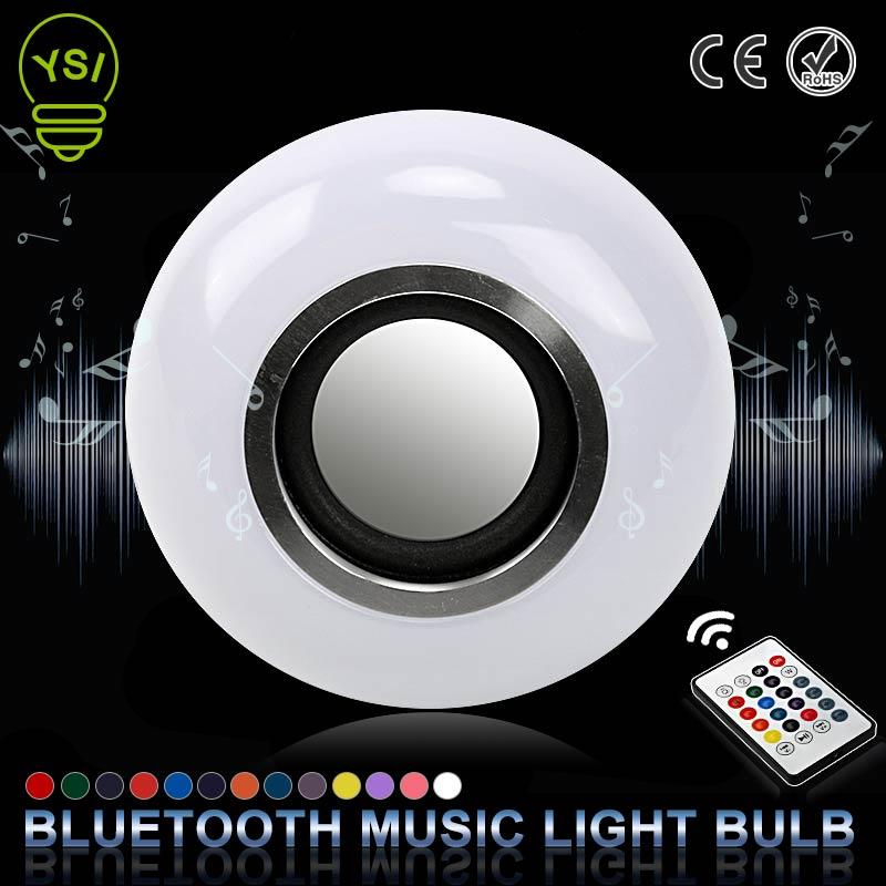 E27 inteligente sem fio bluetooth alto-falante música jogando led rgb música bulbo colorido pode ser escurecido 12 w lâmpada led lampada para a luz do feriado