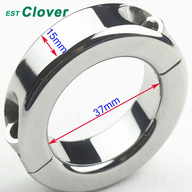 Stainless Steel Penis Ring Ball Stretcher Smooth Cock Ring Sex Toys For Men 37mm F82