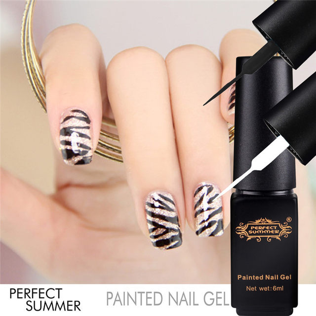 best perfect summer pintado que puntea dibujo manicura de uas de gel uv soak off gel barniz laca bricolaje nail art salon gel liner with dibujos uas de gel - Dibujos Uas