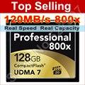 120 MB/s Marca 800x32 GB 64 GB 128 GB 120 MB/s de Alta Velocidade CF Cartão de Memória CompactFlash Para DSLR Camera Filmadora HD DV Livre grátis