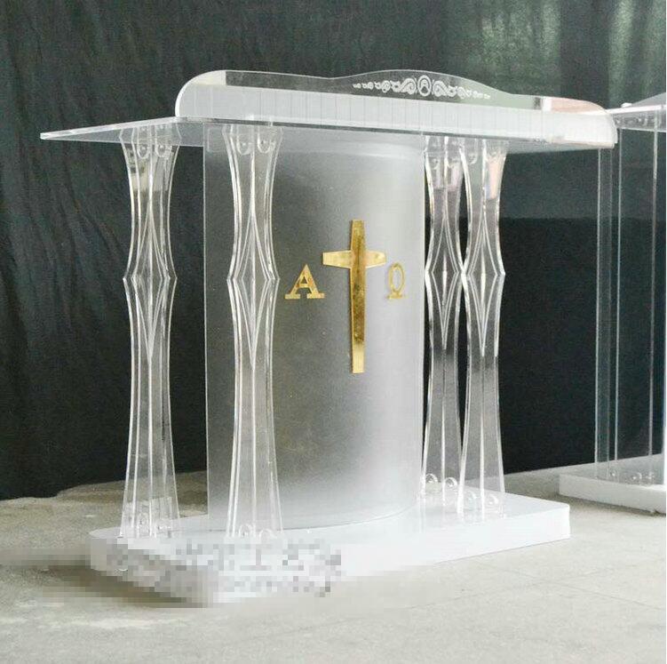 Free Shipping Hot Sale Modern Detachable Acrylic Podium