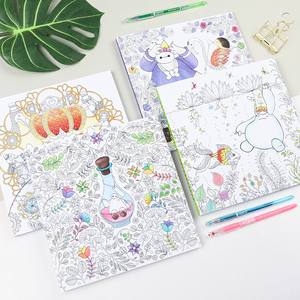 Image 4 - Flower girl secret garden coloring book ancient style painting book children coloring graffiti picture book
