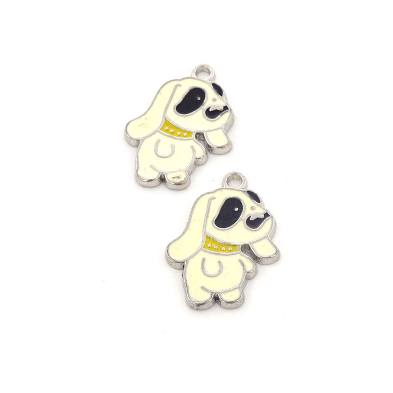 Dog Charms 19*27mm Animales Dog Pendant Metal Animal Charmed Pingentes Charm Necklace Parts Jewelry Findings And Components 15Pc