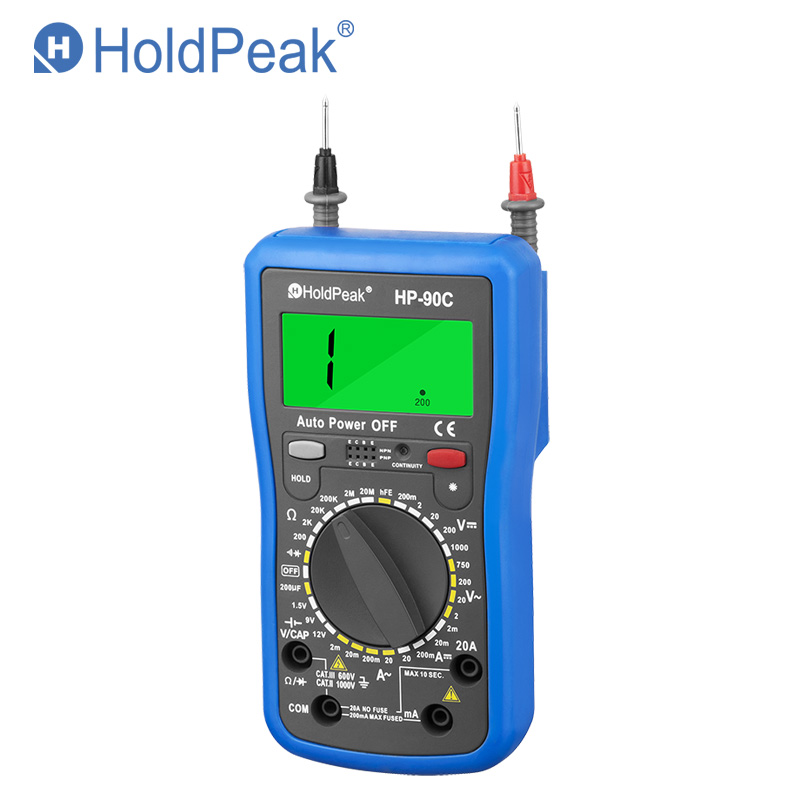 купить HoldPeak HP-90C Multimetro Digital Manual Range Digital Multimeter Meter with Battery/Resistance/Capacitance Test Multimeter по цене 1859.05 рублей