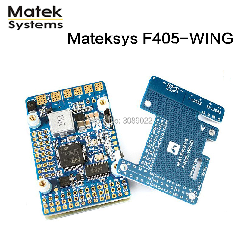 Matek MatekSys F405 WING STM32F405 Flight Controller Control With INAVOSD MPU6000 BMP280 Support Fly Wing Fixed