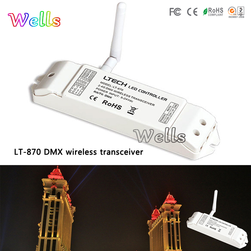 led CV DMX decoder 5A*4CH MAX 20A With LED Screen and DMX512 signal LT-870 DMX Wireless emitter LT-874-5A for led light m3 m4 5a m3 touch rf remote with m4 5a cv receiver led dimmer controller dc5v dc24v input 5a 4ch max 20a output