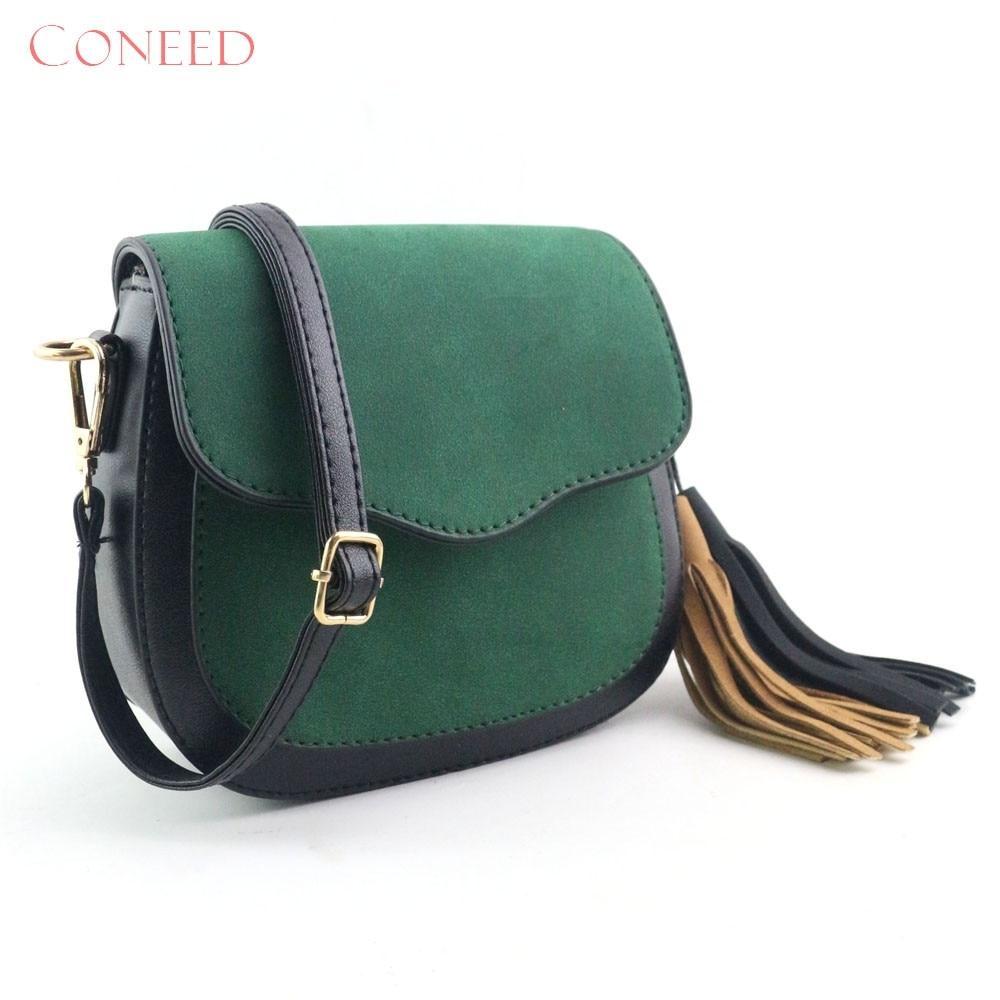 Charming Nice CONEED Women Fashion Hit Color Splicing Tassel Shoulder Bag Large Tote Ladies Purse Jn30 Y35